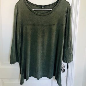 Olive green high-low top